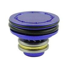 Алюминиевое двойное уплотнительное кольцо шариковый подшипник поршневая головка 8 отверстий(версия анти-осыпания) для страйкбола AEG Ver.2/3 коробка передач