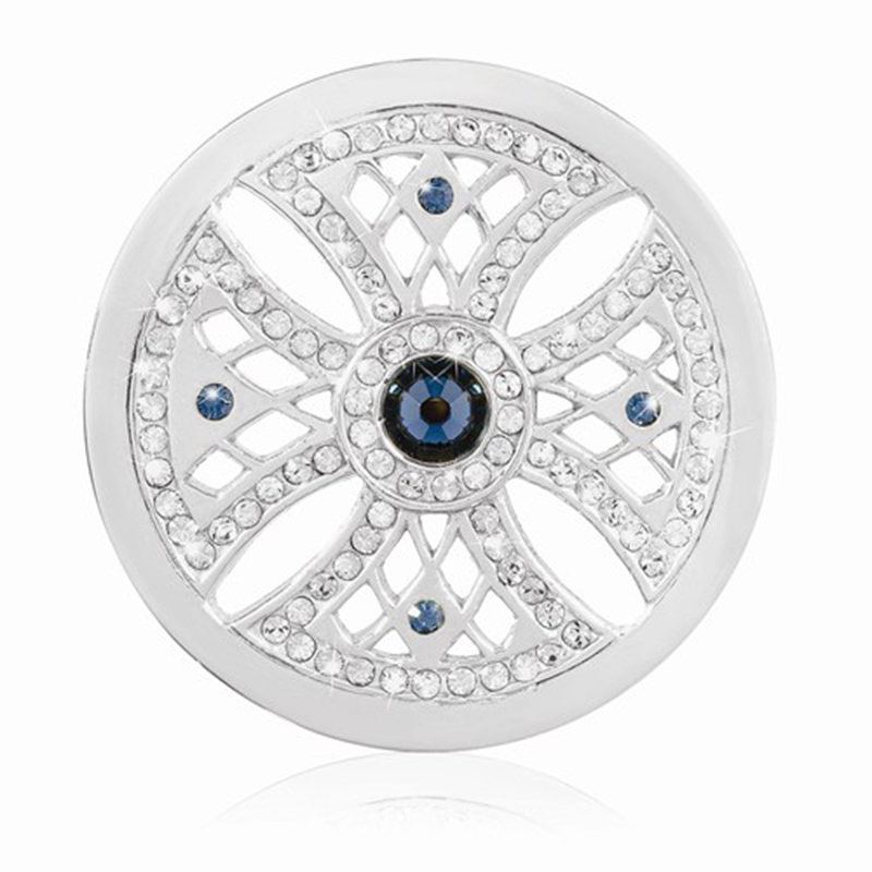 Newest Rhodium Plating Copy Coin Cross Shape Disc Coins Crystal Coin - Fashion Jewelry - Photo 1