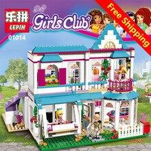 Модель здания игрушечные лошадки хобби дом Стефани 01014 622 шт. Совместимость с lego Friend 41314 3D Кирпич рисунок