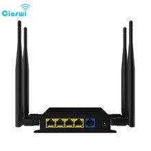 Cioswi WE826-T высокое Мощность Wi-Fi роутера повторителя Supprot 3g 4G модем 2. 4G/5 ГГц 128 МБ оперативной памяти с слот sim-карты Беспроводной маршрутизатор