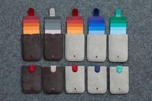 Hot Pull Card Holder Slim Wallet Gradient Color Slim Wallet Cotton Fabric Pull Type Pull Cards 5 Colors 2017 New Design