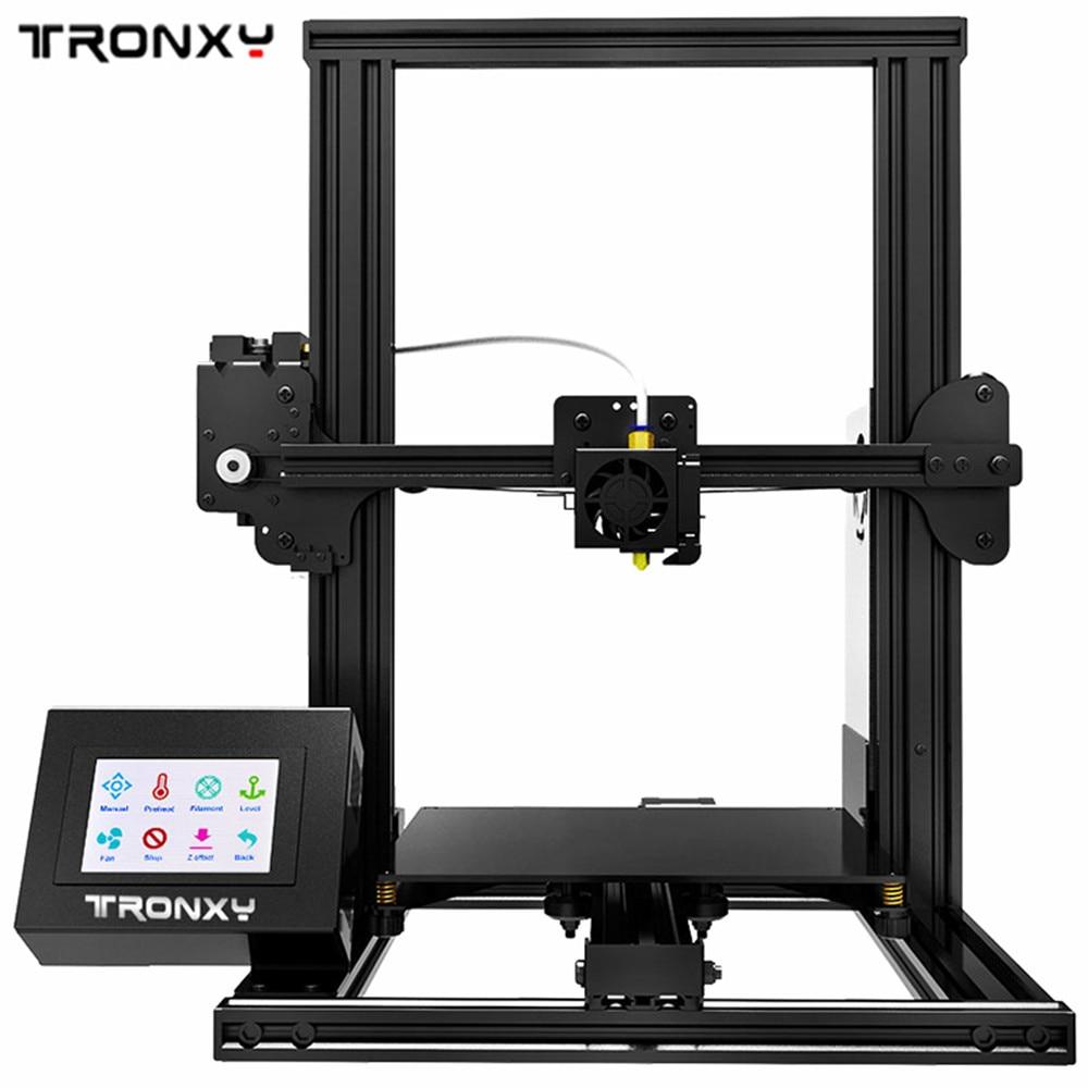 2018 Tronxy XY-2 Full Metal 3D Imprimante Interface USB/TF Carte 3.5 pouces Tactile Écran Avec Chaleur lit 220x220x260mm