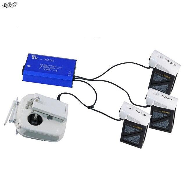 Cargador inteligente 4 en 1 Batería 3 uds y carga de control remoto para DJI Inspire 1 pro Drone Accesorios