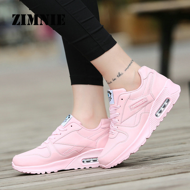 ZIMNIE Women Running Shoes Krasovki Womens Sneakers 2018 Sneakers Women Zapatillas Deportivas Mujer Running Shoes Pink Size 7.5