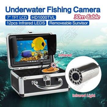 Free shipping!EYOYO 30m 7 LCD Monitor HD 1000TVL Fish Finder Infrared IceSea Fishing Camera EYOYO