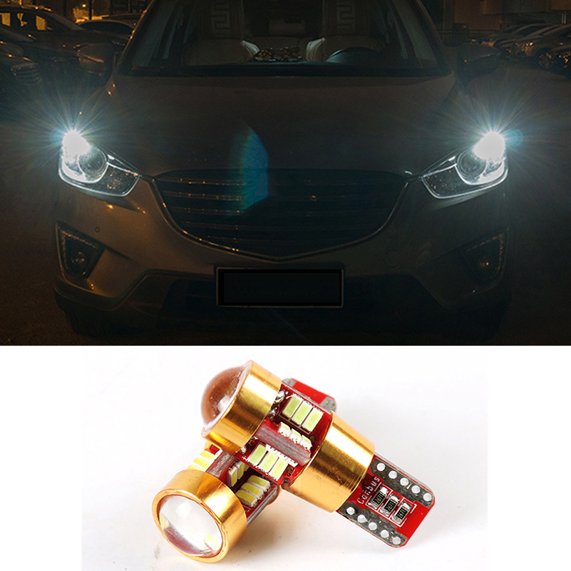 2x Canbus Car LED T10 W5W Wedge Light Clearance Parking Lights For Mazda 3 6 2 CX-5 CX5 CX-7 CX 5 Spoilers 323 626 MX5 Demio RX8 deechooll 2pcs wedge light for mazda 2 3 5 6 mx5 rx8 cx7 626 gf gg ge gw canbus t10 57smd 6w led clearance xenon lighting bulbs