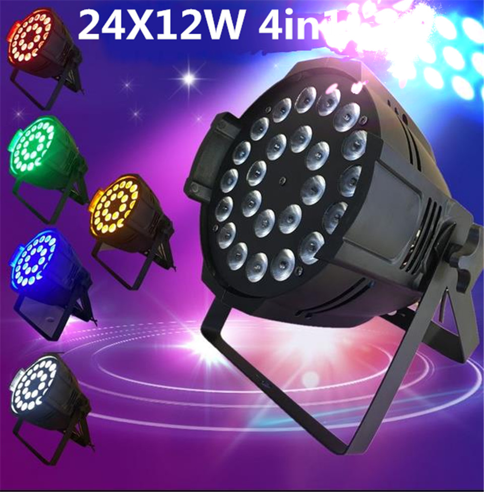 24x12w 4in1 rgbw led par light DJ Par Cans Aluminum alloy Shell stage light dmx light genuine leather