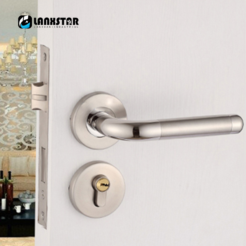 Wonderful Pure Copper Thickening Single Open Door Lock Core Design Split Mute Lock  Door Knob Wood Door Stainless Steel Handle Locks In Door Handles From Home  ...