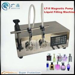 Double Heads Magnetic Gear Pump Liquid Filling Machine,Beverage Filling Machine LT-2 filling range 2ml-5000ml Liquid filler