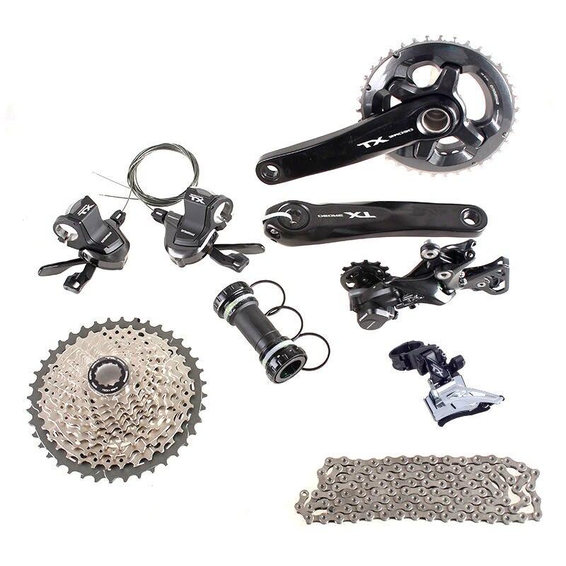 SHIMANO DEORE XT M8000 2x11 11 s 22 s Velocità 36/26 t 38/28 t 170mm 11-42 t MTB Mountain Bike Gruppo Grilletto Sfasamento Cambi parte