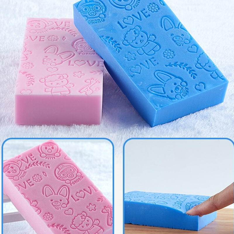 1PCS Soft Cartoon Baby Bath Sponge Brush Rubbing Scrubber For Toddler Infant Gift