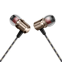 Buy online 1.2m Fashion luxury Metal In-Ear Earphone Super Bass Noise Isolating Earbud Ergonomic Comfort-Fit Dynamic Earphone with