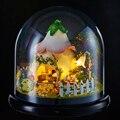 3D Ручной Работы DIY Строительные Деревянные Головоломки Мебель Ручной Миниатюрный Комплект Окно с Крышкой Свет Модель Детские Игрушки B015