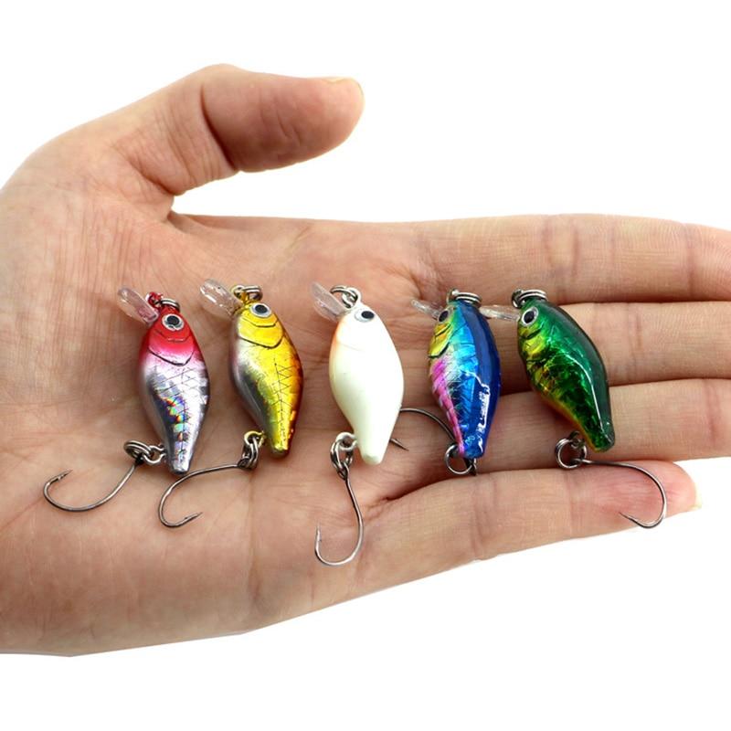 5Pcs/lot 2.1g 30mm Wobbler Japan Mini Fly Fishing Crankbait Fishing Lure 5 color Plastic Baits With Single Hooks ZB9094 lifelike earthworm style fishing baits 5 pcs