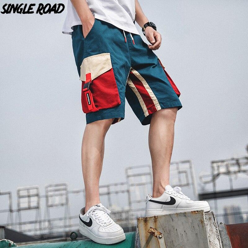 Singleroad Cargo Shorts Men Hip Hop Summer Streetwear Side Pockets 2019 Bermuda Knee Length Short Joggers Casual Short Pants Men