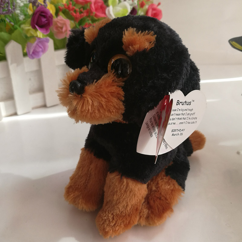 03d4ae8e250 TY beanie babies Brutus P dog 15 cm Plush Toy Stuffed Animal Doll Soft Kids  Toy Christmas Gift Hot Sale the Rottweiler-in Stuffed   Plush Animals from  Toys ...