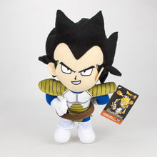 10 pçs/lote Anime Dragon ball Z Super Saiyan Vegeta 30 cm Macio Stuffed dolls Presente brinquedo de Pelúcia(China)