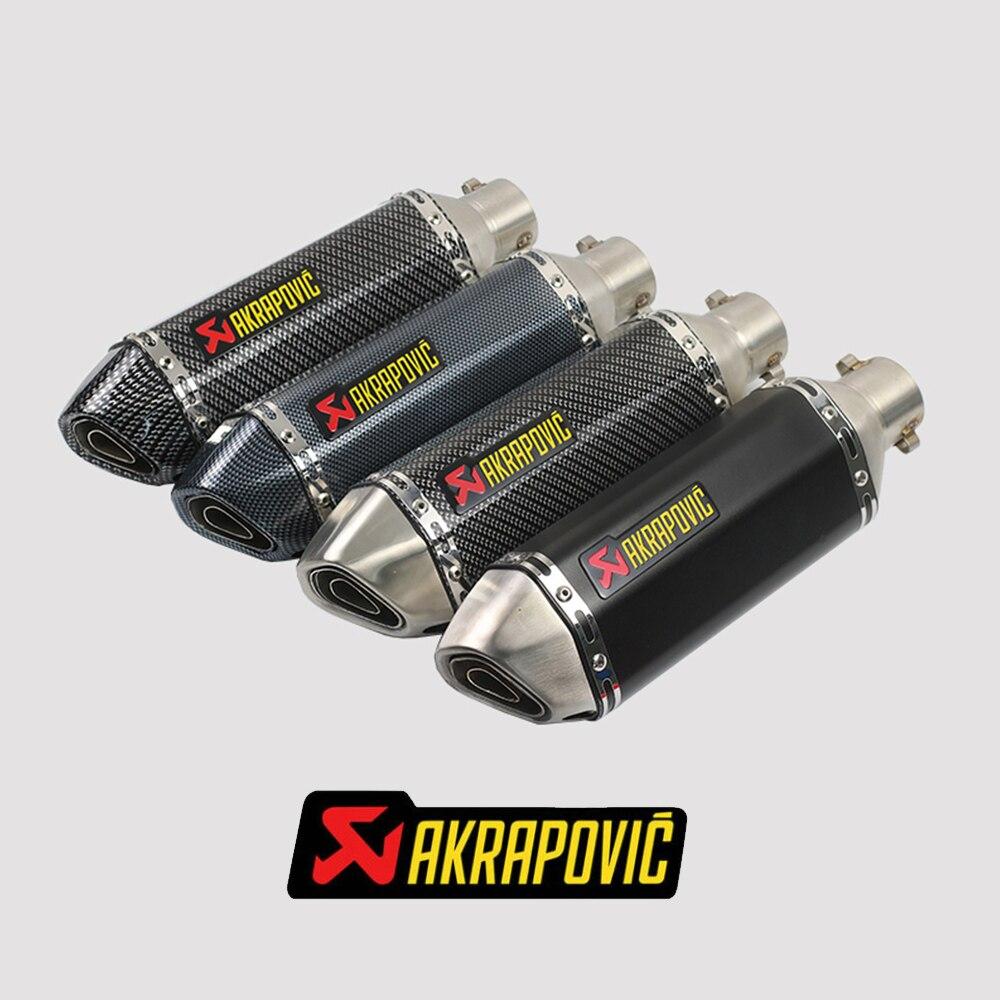 Akrapovic exhaust For mt 07 husqvarna motocross cbr 600 rr kymco ak550 z800 For yamaha yzf r125 r3 vespa gts yamaha xj6 cbr600rr-in Exhaust & Exhaust Systems from Automobiles & Motorcycles    1
