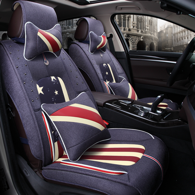 3d Car Seat Cover General Cushion ,car Styling Flax Car Styling For Cadillac Ats Cts Xts Srx Sls Escalade Attractive Appearance