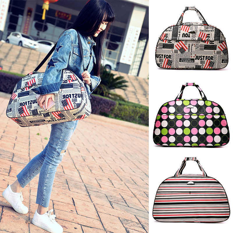 fe14b6b95be4 2018 Summer Style Handbag Small Travelling Bag Luggage Duffle Bag Women  Travel Bag Korean Casual Bolsa