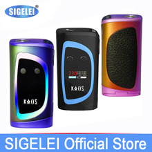 Newest Design high power vape 10W-230W e Electronic Cigarette Sigelei Kaos Spectrum with colorful LED