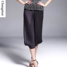 Changpleat Summer Women's pants Miyake Pleated loose Casual elastic waist Harem pants Plus Size Irregular wild pants female P769