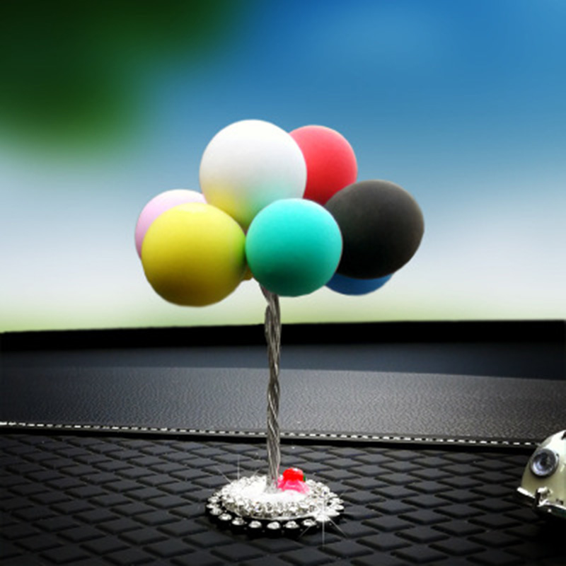 Car Interior Display Ornaments Lovely Clay Balloons Dashboard Decoration for Car