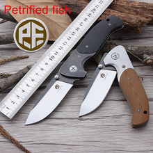 Petrified fish PF711 Outdoor Survival Knife 60HRC AUS8 Blade Bearing Folding Knife G10 Handle Tactical Knife Free Shipping