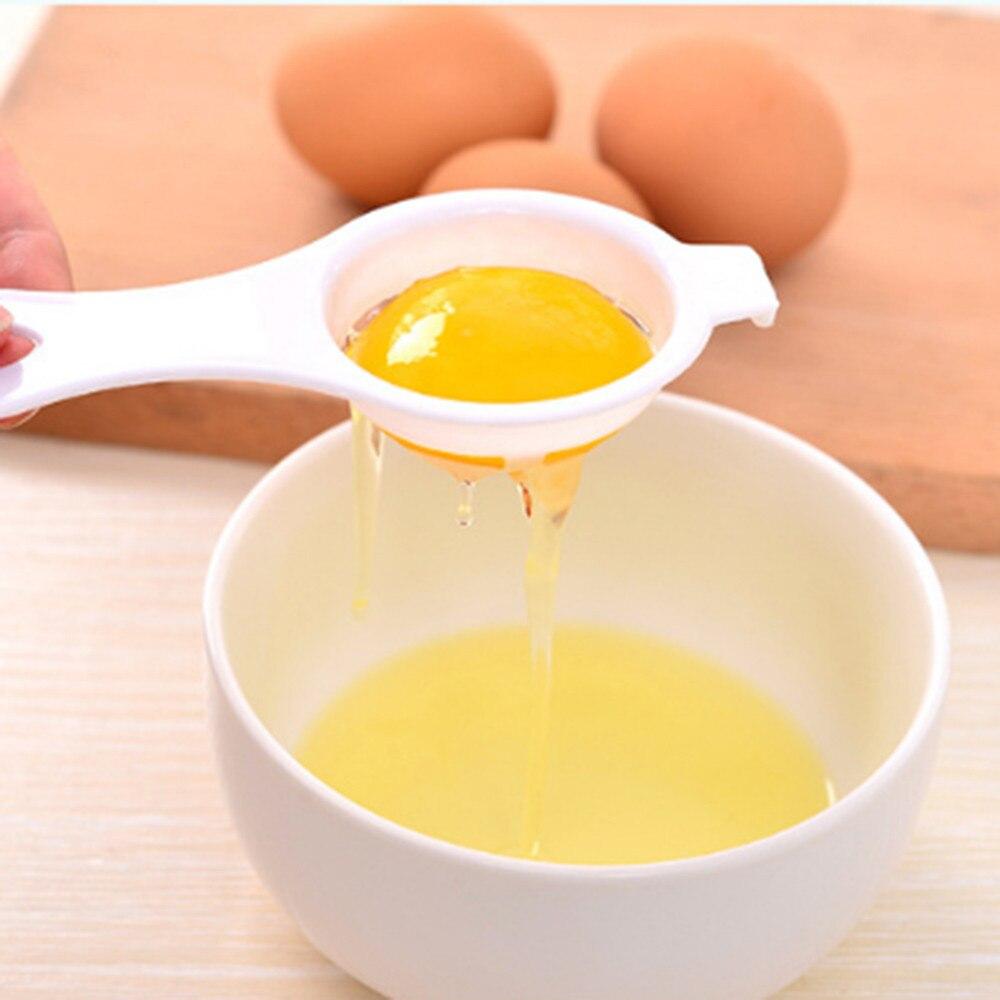 Высокое качество бытовой Пластик белый разделитель желтка и белка экологический пищевой Класс Материал яйцо разделитель держатель инстру...