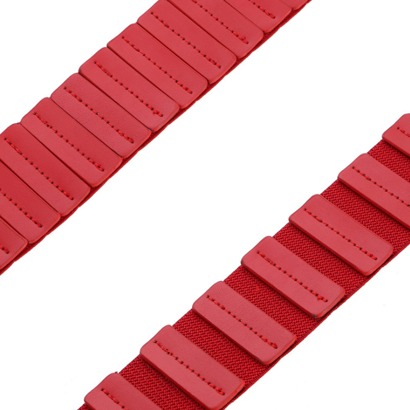 SORBUS DUSK Fashion Vintage Elastic Wide Belts For Women Dress Decorative Femme Genuine Leather Belt Metal Hook Buckle in Women 39 s Belts from Apparel Accessories