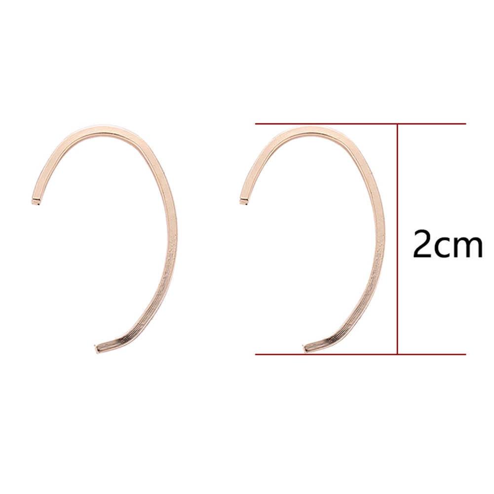 Простые Женские Геометрические С-образные серьги на крючках вечерние ювелирные изделия Рождественский подарок на день рождения оптом