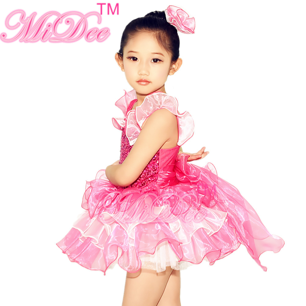 Precioso Vestido de la Danza Del Ballet Leotardo de Lentejuelas Danza de La Bailarina Del Tutú Muchachas Del Vestido de Partido Y La Boda Muchachas ...