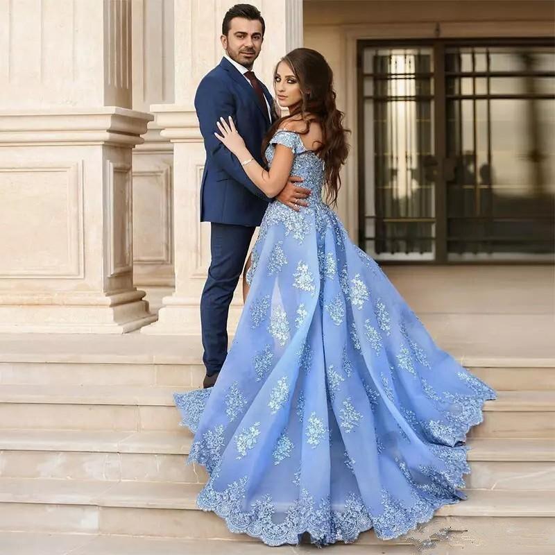SQM148 vestidos de fiesta de noche Luxury Evening Dresses Vintage Elegant Prom Formal Dresses 2019 Custom Made  Abiye costumi moda 2019