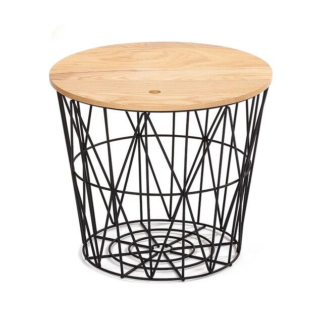 20 inch Round Magazine Storage Wire Coffee Table