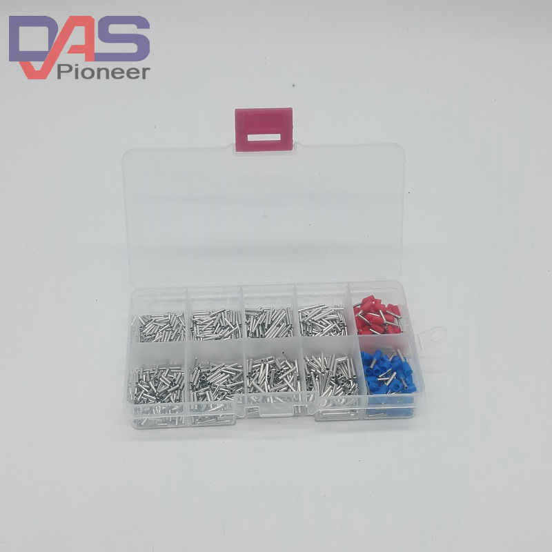 1000cs/lot mixed 8 models uninsulated end  Ferrule Kit 0.5 -0.7mm Non Insulated Electrical Crimp cord wire end terminal 2340pcs lot mixed 15 models dual bootlace ferrule kit electrical crimp crimper cord wire end terminal block