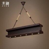 Vintage Retro Industrial Iron Rust Antique Rectangle Pendant Light Restaurant Shop Bar Hanging Lamp