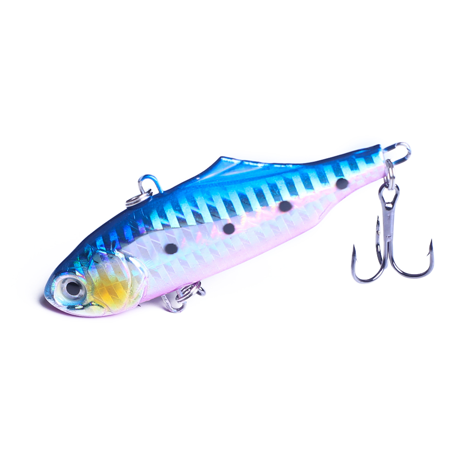 1Pcs 7.5cm 24g winter VIB fishing lure with lead inside hard bait diving swivel jig wobbler lure ice sea fishing tackle
