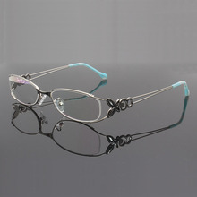 Women Metal Eyeglasses Frame with Butterfly Decoration Optical Glasses Prescription Eyewear Spectacles