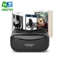 เฮสเทียVR Shinecon II 3D VRแว่นตาความจริงเสมือนหัวหน้าเมาvrกล่องวิดีโอแว่นตากระดาษแข็งสำหรับiphone 6 s plus 4.7 ~ 6″