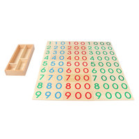 Wooden Montessori MathToys Large Number Cards 1 9000 Montessori Educational Wooden Toys Math Count For 3 Year Olds ME1564H