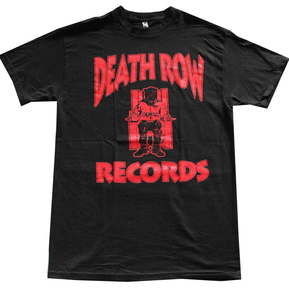 DEATH ROW RECORDS Red Logo Men's T-Shirt Black 2018 Hot Sale New Men'S T Shirt Tee Shirt Casual Short Sleeve