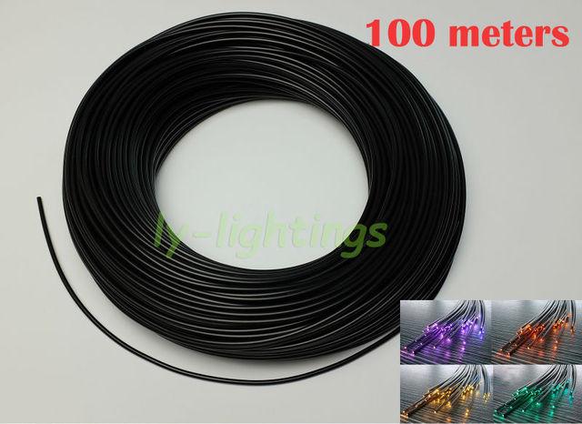 Zwart glasvezelkabel effen fiber met cover voor ster plafond zwembad