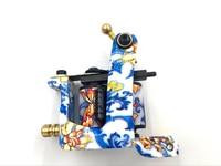 High Quality New Design Porcelain Pattern Coils Machine Professional Handmade Liner Shader Tattoo Gun 10 Wraps