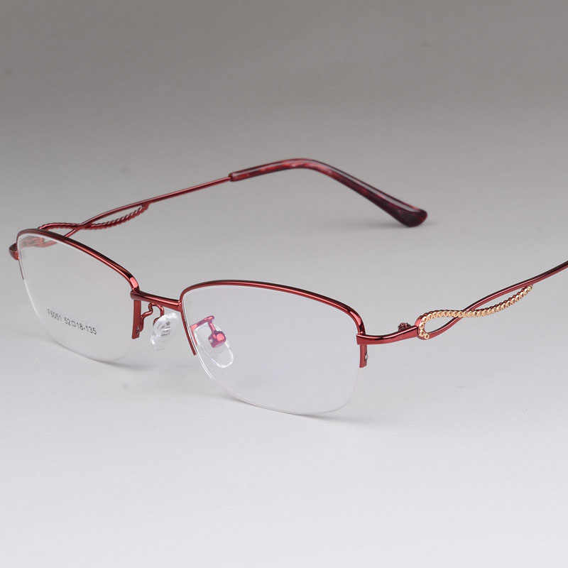 BCLEAR винтажные очки женские полуоправы близорукость оправы для оптических очков очки прозрачные розовые красные очки oculos de grau feminino