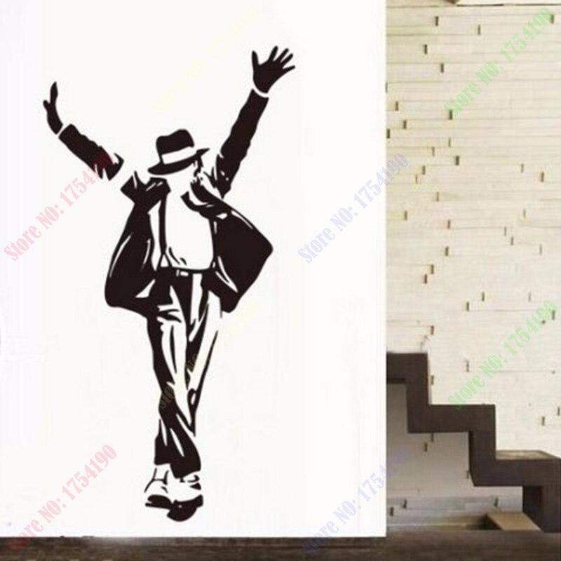 Us 1231 12 Offfreies Verschiffen Neue Schwarze Mj Tanzen Michael Jackson Wandaufkleber Aufkleber Vinyl Kunst Wohnkultur 60 Cm X 90 Cm In