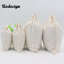 Купить с кэшбэком 10pcs Pure White Cotton Linen Gift Bag Birthday Party Wedding Favor Holder Makeup Jewelry Drawstring Pouch