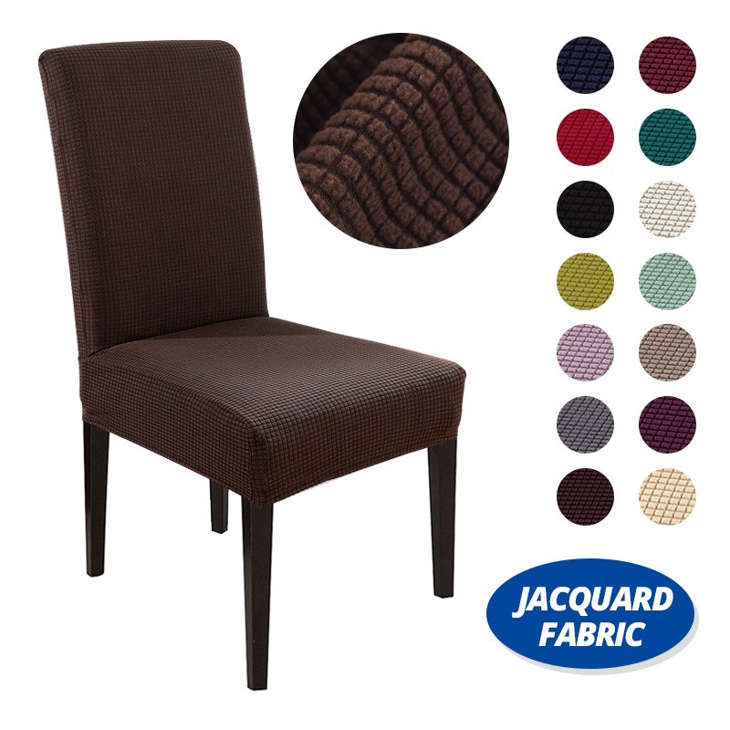 Cheap Jacquard Dining Chair Covers Sandex Elastic Dining Room Chair Covers Kitchen Case for Chairs Stretch