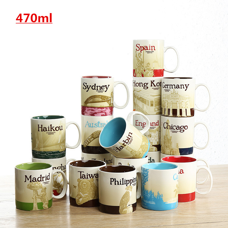 Hot Sale City Mug Macau City cup Spain Country Cup Collection Commemorative Coffee Cup , just have Macau and Spain city mug