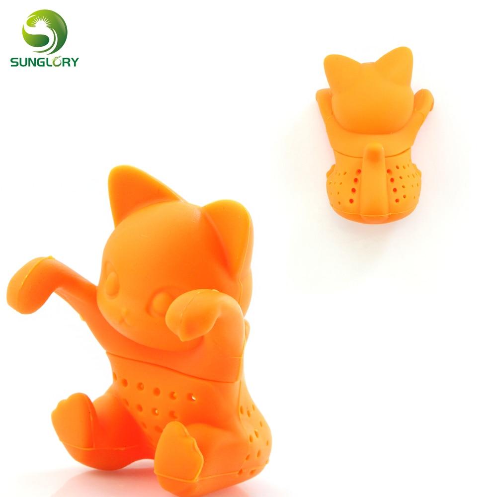 Cute Silicone Cat Tea Infuser Tea Filter Diffuser Reusable Tea Strainer Spice Loose Tea Leaf Herbal Tool Teabags Coffee Tools