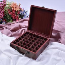 36 Slots Wooden Essential Oils Box Solid Wood Case Holder Aromatherapy Bottles Storage Organizer Wooden Storage Box